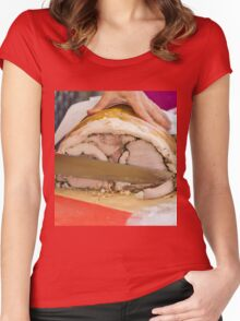 baked ham Women's Fitted Scoop T-Shirt