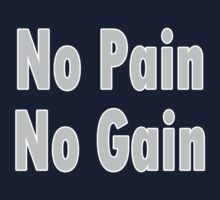 No PAIN No GAIN !!! T-Shirt Fitness Sticker One Piece - Long Sleeve