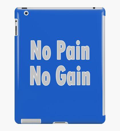 No PAIN No GAIN !!! T-Shirt Fitness Sticker iPad Case/Skin