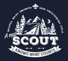 A real scout knows what counts Kids Tee
