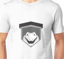 Alligator Head Shield Black and White Unisex T-Shirt