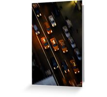 Taxi Ride Greeting Card