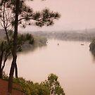 Perfume River Hue Vietnam. by Andrew  Makowiecki