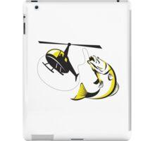 Barramundi Heli Fishing Retro iPad Case/Skin