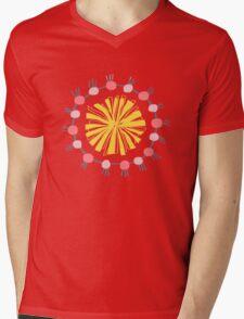 Flower pompom white Mens V-Neck T-Shirt
