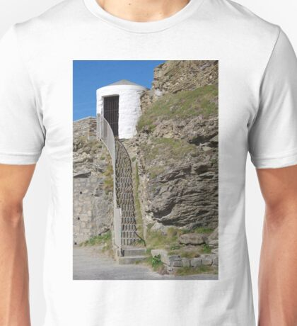 The Lower Pilots Lookout at Portreath Unisex T-Shirt