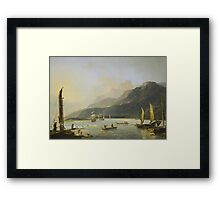 William Hodges, The Resolution and Adventure in Matavai Bay  Framed Print