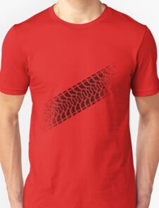 Tire footprint, tire gauge, tire tread (Diagonal) Unisex T-Shirt