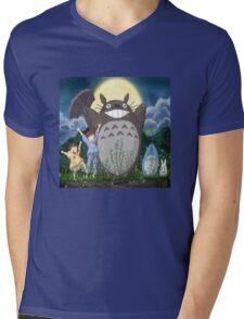 Totoro and family Mens V-Neck T-Shirt