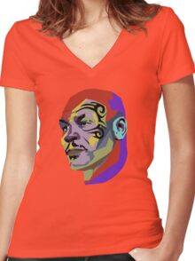 Mike Tyson Women's Fitted V-Neck T-Shirt