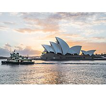 Ferry passing the Sydney Opera House Photographic Print