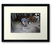 Blacksmiths at The Royal Bath & West Show, Shepton Mallet Framed Print