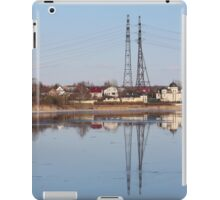 high voltage reflection in the river iPad Case/Skin