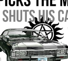 """Driver picks the music, shotgun shuts his cake hole""  Sticker"