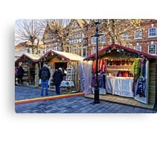 Salisbury Christmas Market, Wiltshire, UK Canvas Print
