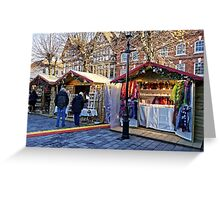 Salisbury Christmas Market, Wiltshire, UK Greeting Card
