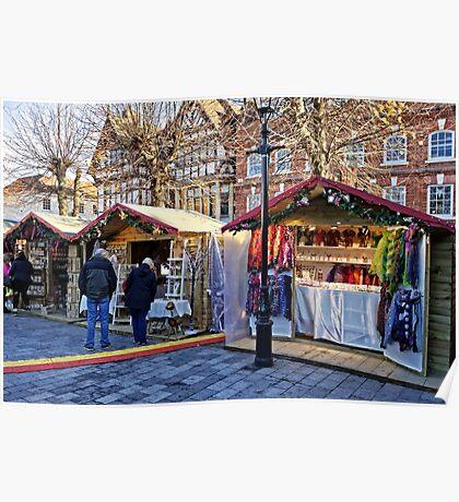 Salisbury Christmas Market, Wiltshire, UK Poster