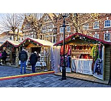 Salisbury Christmas Market, Wiltshire, UK Photographic Print