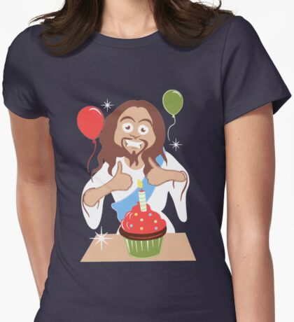 Happy Birthday Womens Fitted T-Shirt