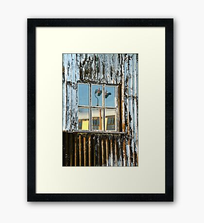 The Window Of The Railway Shed Framed Print