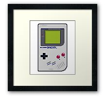 Game Boy Pixel Art Framed Print