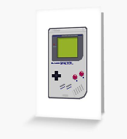 Game Boy Pixel Art Greeting Card