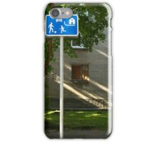 Residential zones traffic sign iPhone Case/Skin