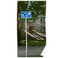 Residential zones traffic sign Poster
