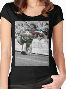 Leicester Tigers - Alesana Tuilagi Women's Fitted Scoop T-Shirt