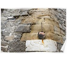 The Hanging Jar - Rough Weathered Stones, Rust and Ceramics Poster