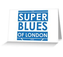 Super Blues of London (White) Greeting Card