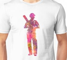 Cricket player batsman silhouette 10 Unisex T-Shirt