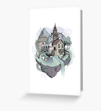 Memory Island.  Greeting Card