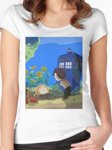Doctor Who - Companion Planting Women's Fitted Scoop T-Shirt