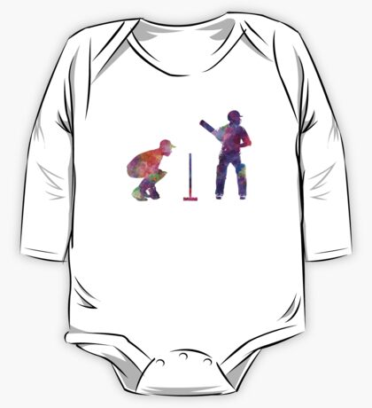 Cricket player silhouette One Piece - Long Sleeve