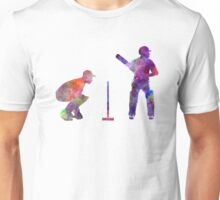 Cricket player silhouette Unisex T-Shirt