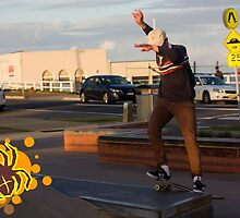 Ollie To Frontside Smith Grind by reflector