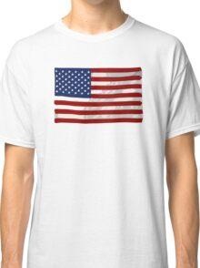 USA flag, block colour design (United States of America) Classic T-Shirt