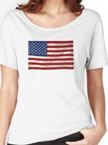 USA flag, block colour design (United States of America) Women's Relaxed Fit T-Shirt