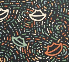 Lips and lines Sticker