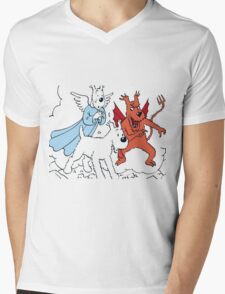 tintin Mens V-Neck T-Shirt