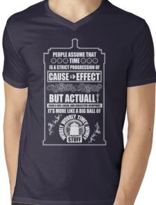 Doctor Who - Blink - People assume that time is a strict progression of cause to effect Mens V-Neck T-Shirt