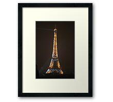 Eiffel Tower Sparkles Framed Print