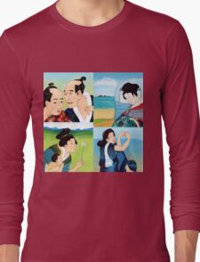 The Hokusai Family and The Hiroshige Family On Vacation Long Sleeve T-Shirt