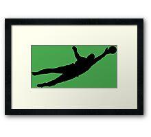 Goalie Parry Framed Print