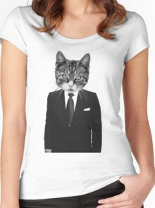 Meow - ONE:Print Women's Fitted Scoop T-Shirt