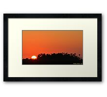 Brilliant Sunset Framed Print