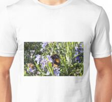 Busy Bees on Rosemary Flowers Unisex T-Shirt