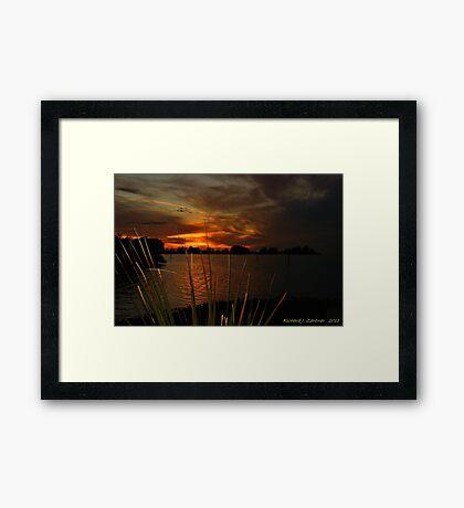 Fiery Christmas Sunset Framed Print