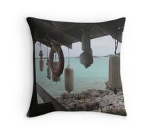 Bahamas exhuma islands hideaway Throw Pillow